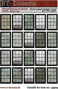 "Printed Accessories: Factory glass windows ""smal"""