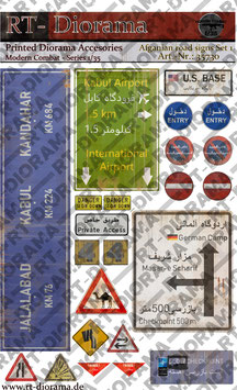 Printed Accessories: Afgahnian road signs Set No.1
