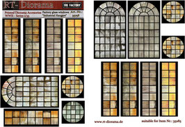 "Printed Accessories: Factory glass windows ""Industrial Hangars"""