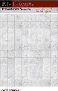 Printed Accessories: Marble white Floor Tiles Nr.1