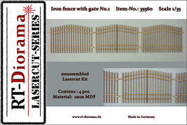 Iron fence with gate No.1  1/35