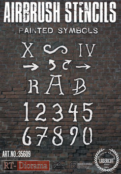 Airbrush Stencil: Painted Symbols