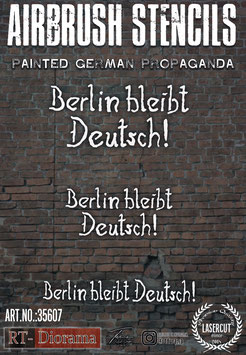 Airbrush Stencil: Painted German Propaganda