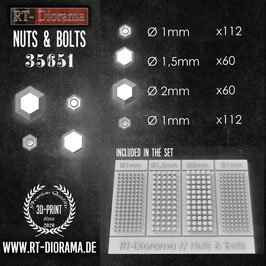 3D Resin Print: Nuts and Bolts