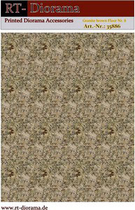 Printed Accessories: Granite brown Floor Nr.8