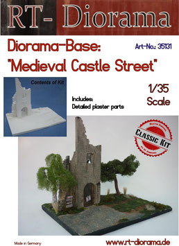 "Diorama-Base: ""Medieval Castle Street"" 1/35"