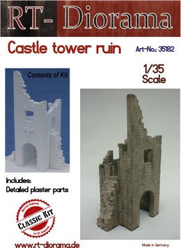 Burg-Turm Ruine 1/35