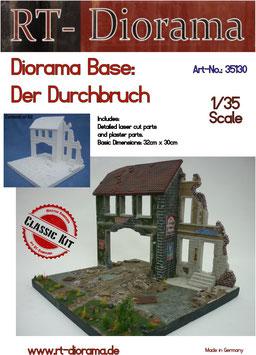 """Diorama-Base: """"Der Durchbruch"""" im Maßstab 1/35"""