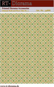 Printed Accessories: Oriental Waal and Floor Tiles Nr.2