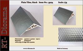 Plain tiles (black)