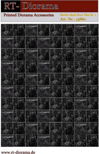 Printed Accessories: Marble black Floor Tiles Nr.2