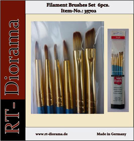 Filament Brushes Set  6 pcs.