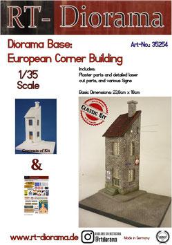 Diorama-Base: European Corner Building
