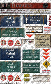 Printed Accessories: Afgahnian road signs Set No.2
