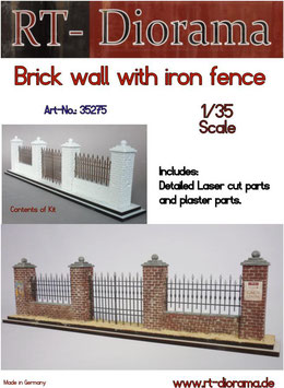 Brick wall with Fence