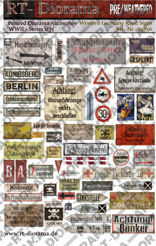 Printed Accessories: Road Signs Western Germany