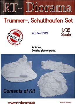 Trümmer-, Schutthaufen Set (3 teilg.)
