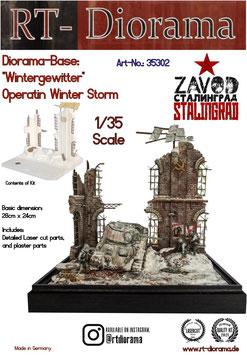 "Diorama-Base: ""Wintergewitter"" Operation  Winter Storm"