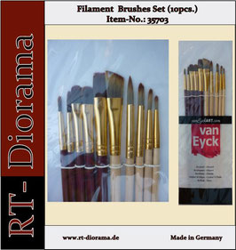 Filament Brushes Set  10 teilig