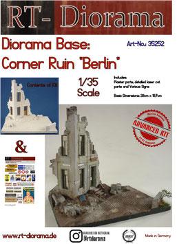 Diorama-Base: Corner Ruin Berlin