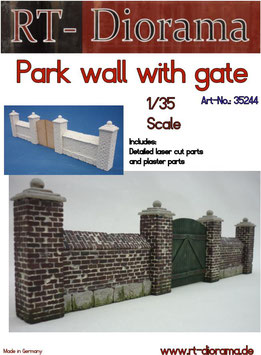 Park wall with gate