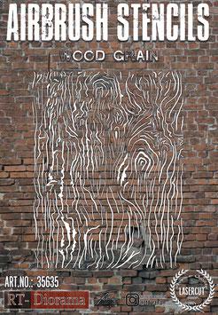 Airbrush Stencil: Wood grain