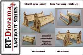 Church pews (short) 1/35