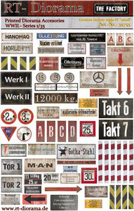 """Printed Accessories: German Factory Signs IV """"small"""""""