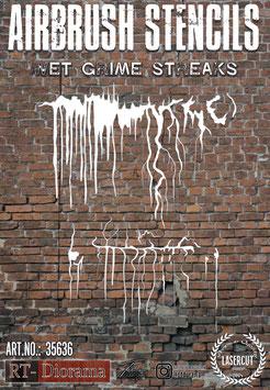 Airbrush Stencil:      Wet grime straeks