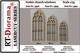 Gothic church windows No.1 - No.3