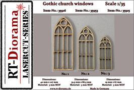 Gothic church windows No.1 - No.3