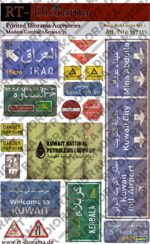 Printed Accessories: Iraqi road signs Set No.1