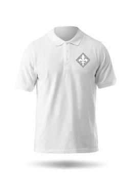 Hr. Polo-Shirt weiß / schwarz - MOTIV 4