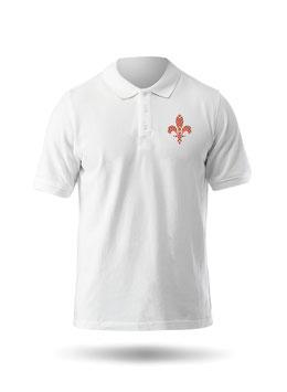 Hr. Polo-Shirt weiß / schwarz - MOTIV 2