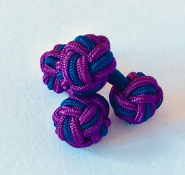 Silk knots - purple/navy