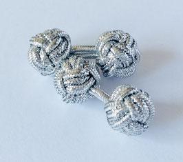 Silk knots - silver