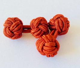 Silk knots - terracotta