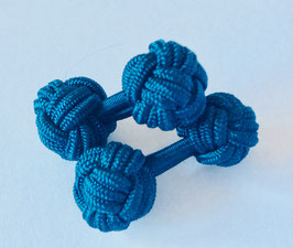 Silk knots - Mid blue