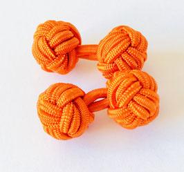 Silk knots - orange