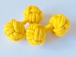 Silk knots - yellow