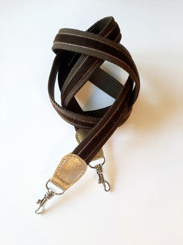 Strap Miniature brown / brown velvet