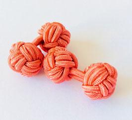 Silk knots - salmon