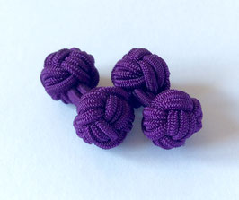 Silk knots - purple