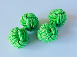 Silk knots - lime green