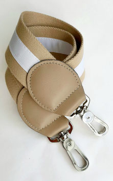 Padded Shoulderstrap sand / white