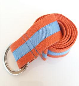 Orange / baby blue