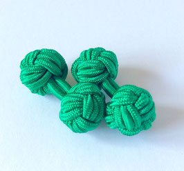 Silk knots - emerald green