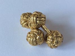 Silk knots - gold