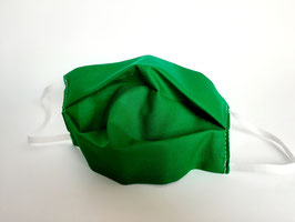 Mask emerald green folded
