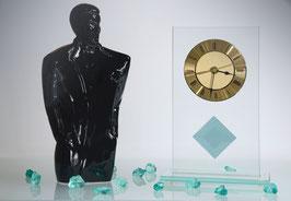 Moderne Ganzglas-Uhr